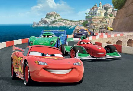 Cars characters  wallpaper mural Disney